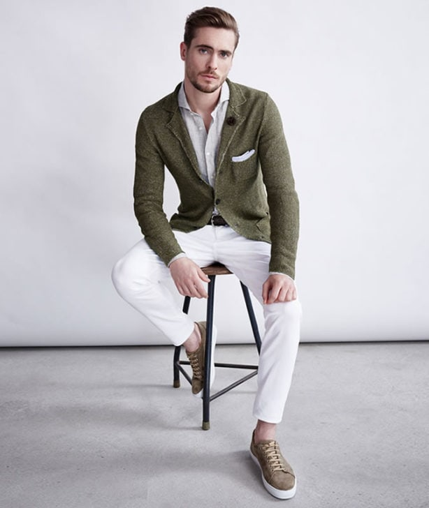 How To Wear An Olive Jacket Or Blazer Mens Style Guide